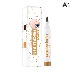 verklighetstrogna fräkna penna mjuk brun fräkna penna makeup vatten A1