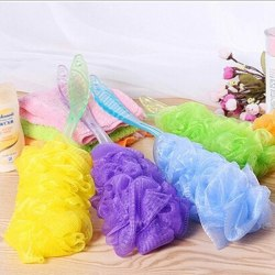 Long Handle Bath Brush Soft Mesh Sponge Back Scrubber