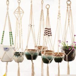 Macrame Plant Hanger Flower Pot Holder Hanging Jute Rope Wall A A