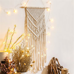 Macrame Woven Wall Hanging Boho Chic Bohemian Home Geometric Art