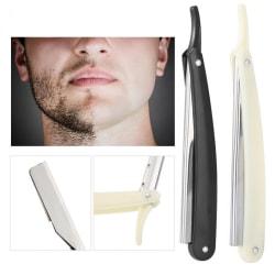 Manual Shaver Professional Straight Edge Stainless Steel Sharp  Black