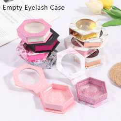 Multi-Color Hexagon False Eyelash Packaging Lash Box Empty Case 3