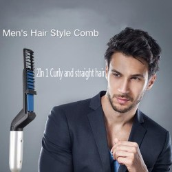 Multifunctional Hair Styler Comb Brush Quick Beard Straightening EU