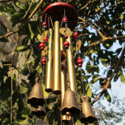 Outdoor Living Wind Chimes Yard Garden Tubes Bells Copper Home  one size