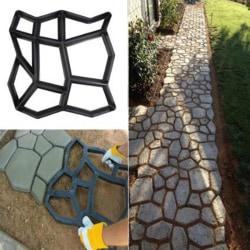 Path Maker Mold Reusable Concrete Cement Stone Design Paver Wal One Size