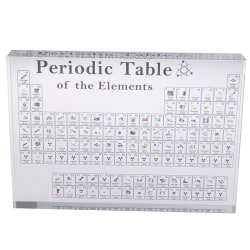 Periodic Table Display With Real Elements Kids Teaching School  A