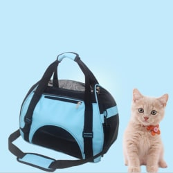 Pet Carrier Soft Sided Cat/Dog Puppy Mesh Sling Carry Travel To Blue M