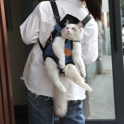Pet Cat Carrier Mode Resväska Hundryggsäck Andas husdjur