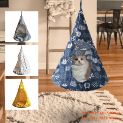 Pet Cat Tent Hammock Hanging House Bed Cone Shape Breathable Lin D