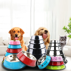 Pet Supplies Stainless Steel Anti-skid Dog Bowls Cat Bowl Puppy A 15cm