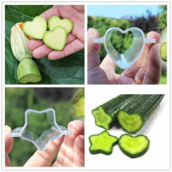 Plastic Cucumber Growth Forming Mold Heart/Star Fruit Shaping G Star