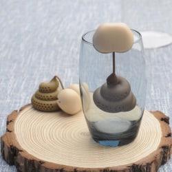 Poo Turd Shape Silicone Tea Strainer Filter Infuser Prank Trick  onesize