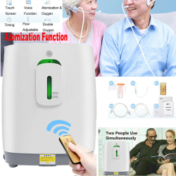 Portable Intelligent Home Oxygen Concentrator Generator 1-5L/min White