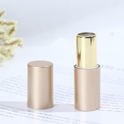 Round Gold Empty Lipstick Tubes Refillable DIY Lip Gloss Lip Ba One Size