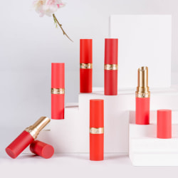 Round lipstick tube small rubber paint texture lipstick empty tu One Size