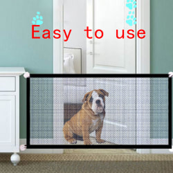Safety Gate Pet Dog Baby Mesh Fencing Portable Guards Indoor Kit 71*28in