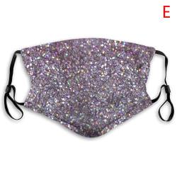 Skyddande ansiktsmasker med paljetter och tvättbara och återanvändbara ansikten M E