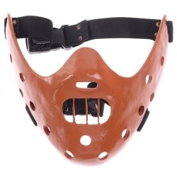 Lammets tystnad Hannibal Lecter Cosplay Mask Fancy Hallowe Brown