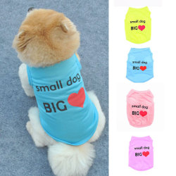 Small Dog Cat Vest Pet Cool Clothes Summer Polyester Vest Cool B Purple M