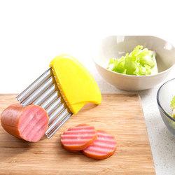 Rostfritt stål morot grönsak korrugerad skärare potatis