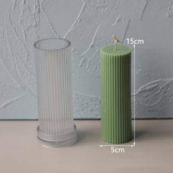 Stripe Cylindrical Acrylic Candle Mold DIY Candle Mould Wedding 5x15cm