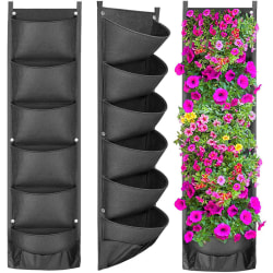 Vertical Hanging Garden Planter Flower Pots Bag Waterproof Wall 6