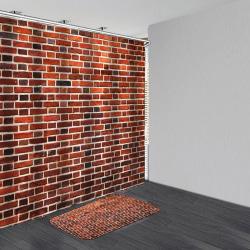 Wall Brickwall Brickwork Broken Design Bath Curtains Set Bath D 180*200 curtain