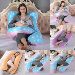 Washable Pillow Cover for Full Body Maternity Pregnancy U Shape  B