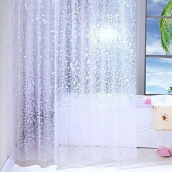 Waterproof 3D Shower Curtain With 12 Hooks Bathing Sheer For Hom 120X200CM