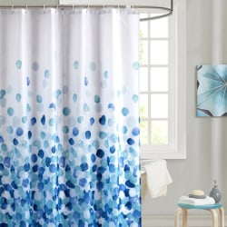 Waterproof Bath Shower Curtain With Hooks Door Toilet Bathtub B Blue