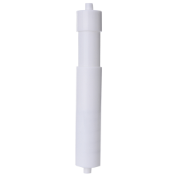White Plastic Replacement Toilet Roll Holder Roller Spindle Spri