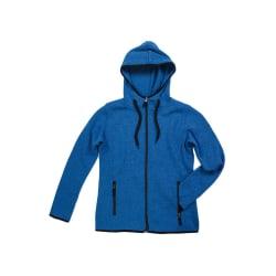 Stickad fleece jacka med dragkedjefickor Dam modell S