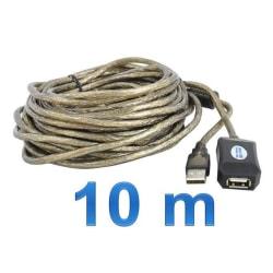 Aktiv USB-Kabel (Ho-Ha) 10M grå