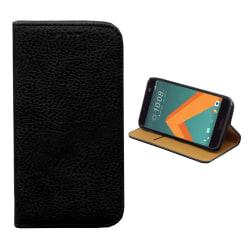 Colorfone HTC 10 Plånboksfodral (SVART) Svart