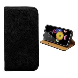 Colorfone LG K10 Plånboksfodral (SVART) Black