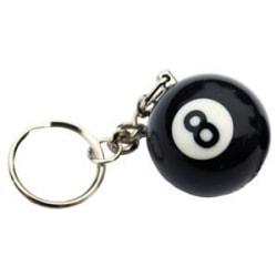 Nyckelring / Nyckelknippa Biljardboll (NR #8) Svart one size