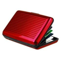 Plånbok / Korthållare med RFID-skydd (Röd) Röd one size