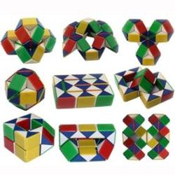 Snake Cube / Snake Twist / Magic Cube (Multifärg) multifärg