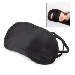 Sovmask / ögonmask av mjuk satin Black one size