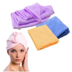 Turban / Mikrofiber handduk För håret (Lila) Lila one size