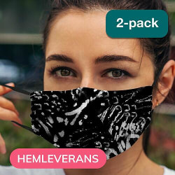 2-pack Munskydd, Tvättbar Skyddsmask med Filter - Doesn't Matter