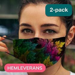 2-pack Munskydd, Tvättbar Skyddsmask med Filter - PixyDust