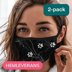 2-pack Tvättbar Fashion Mask Munskydd - Marmor Tassar