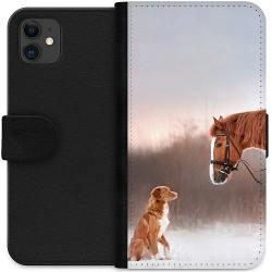 Apple iPhone 11 Wallet Case Häst & Hund