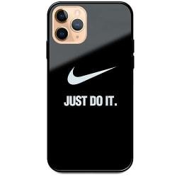 Apple iPhone 11 Pro Max Svart Mobilskal med Glas Just Do It