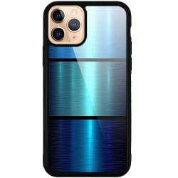 Apple iPhone 11 Pro Mobilskal med Glas Blue Metallic Stripes