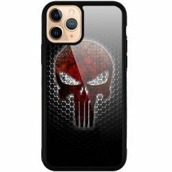 Apple iPhone 11 Pro Svart Mobilskal med Glas Dödskalle