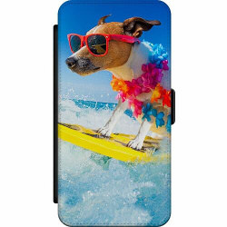 Huawei P20 Wallet Slim Case Surfer Dog