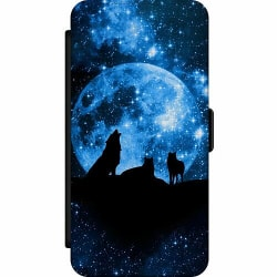 Huawei P20 Wallet Slim Case Moon Wolves