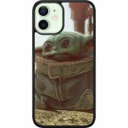 Apple iPhone 12 mini Soft Case (Svart) Baby Yoda